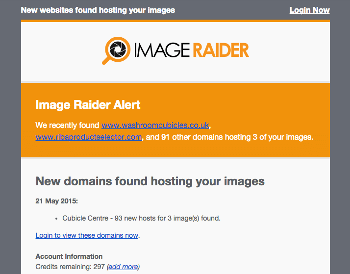 Image Raider - Email Results